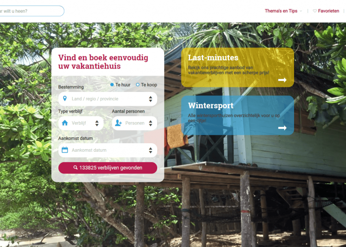 Online platform Wereldvakantiehuis.nl